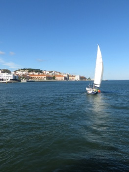 View from the ferry back to Lisbon
