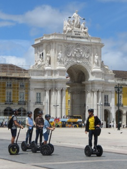 Segways are a popular way to get around in Lisbon