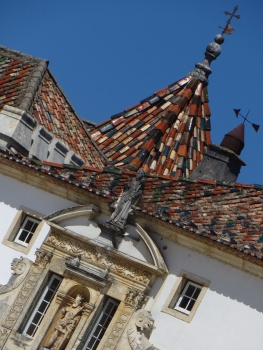 Roof above the Porta Ferrea of the University