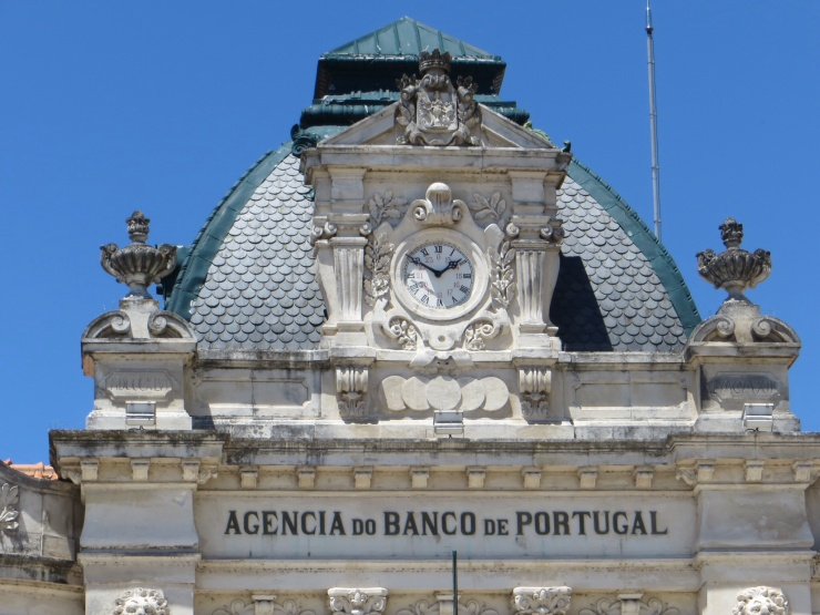Top of a bank building in Coimbra
