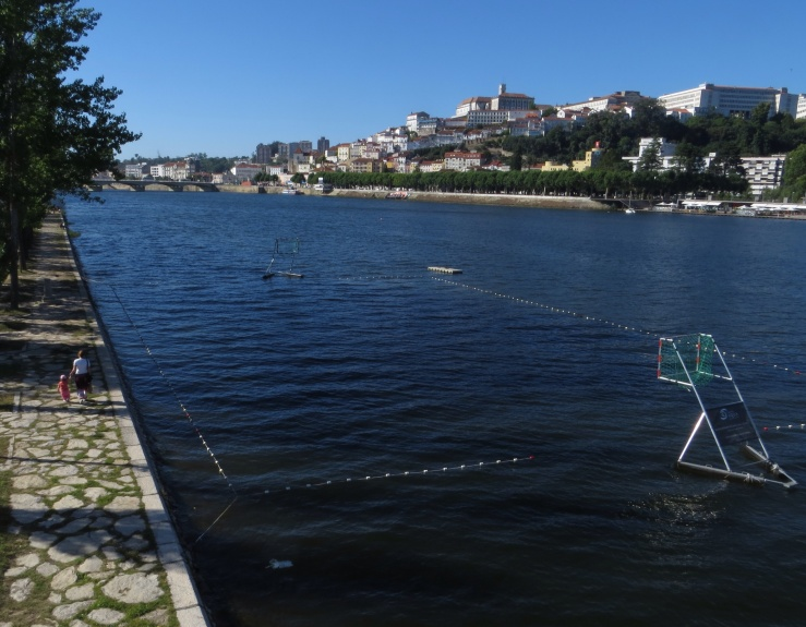 Pool in the river in Coimbra