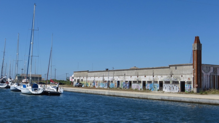 Down by the marina in Aveiro