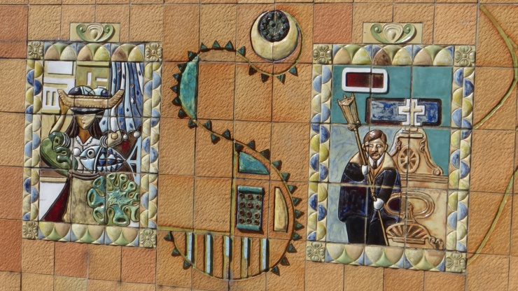 Part of a series of tiles about Aveiro life