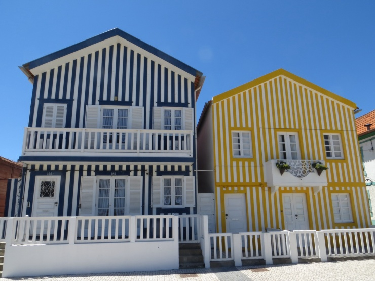 Old fishermen's houses in Costa Nova