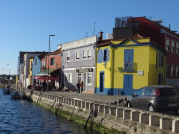 By the canal in Aveiro