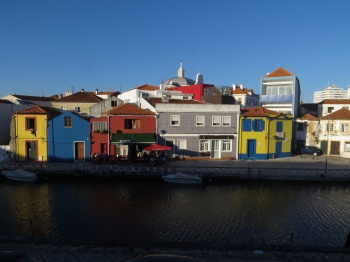 View from the restaurant in Aveiro