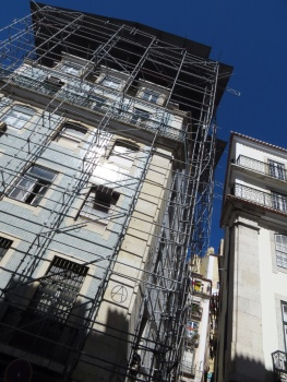 Building under renovation in Lisbon