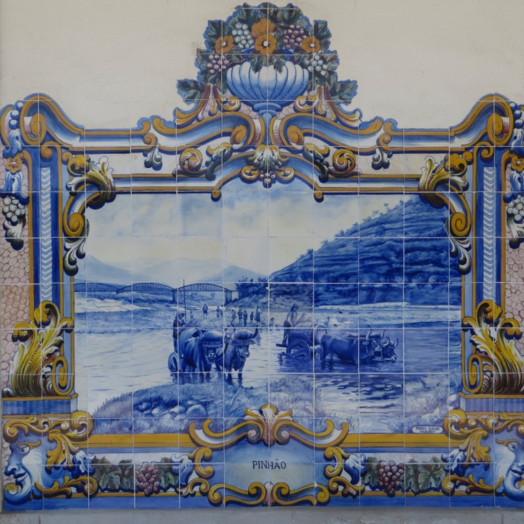 Tiles depicting the wine trade in Pinhao station