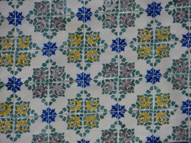 Typical Portuguese tiles on a house