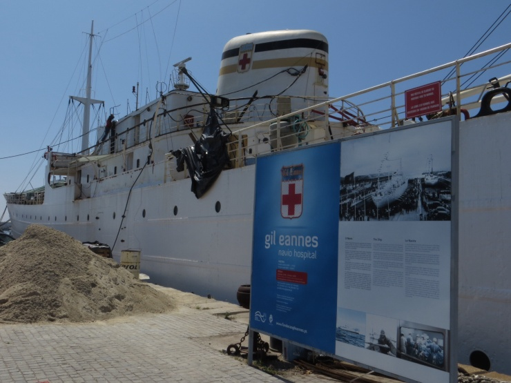 Former Hospital ship under repairs in Viana