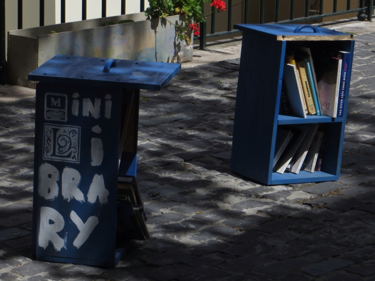 Very small library in Alfama!