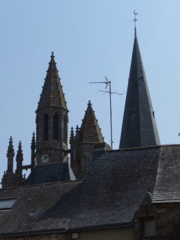 Church roofs in Geurande