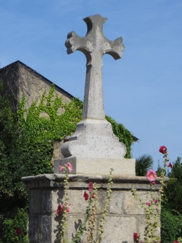 Crosses are typical in the middle of the villages