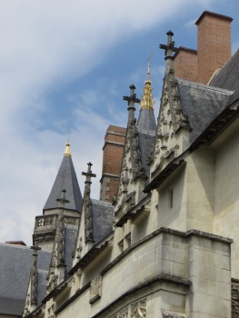 Chimneys and spires in Nantes