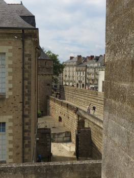 View from the ramparts in Nantes