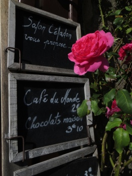 Outside a cafe in Guerande
