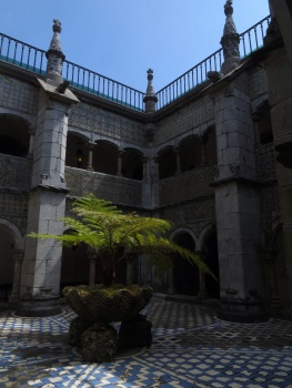 Courtyard of arches, Pena Palace