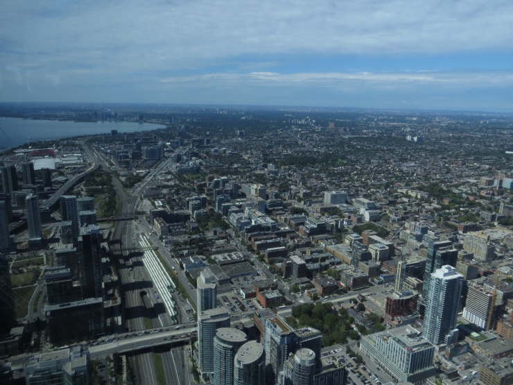 View from CN Tower observation deck
