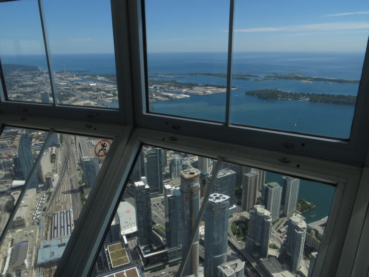 View from the Skypod in CN Tower