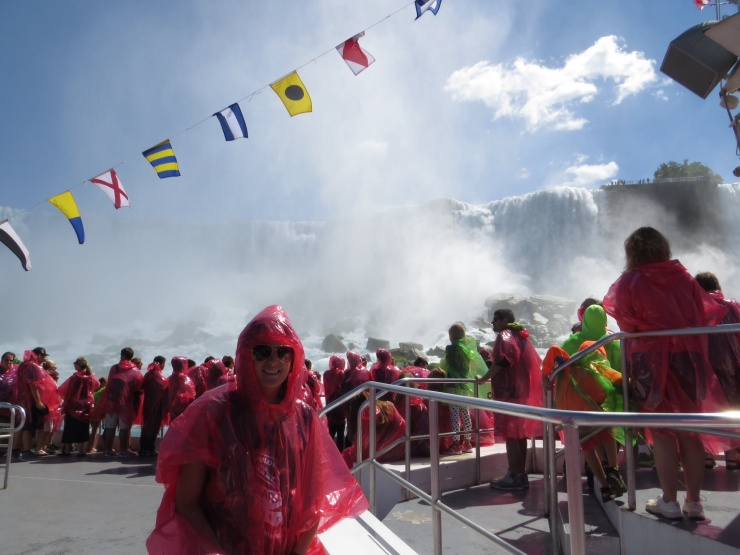 Robyn on the boat at the American Falls