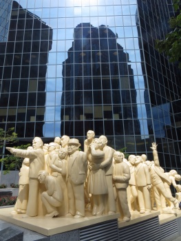 The 'Illuminated Crowd' statue