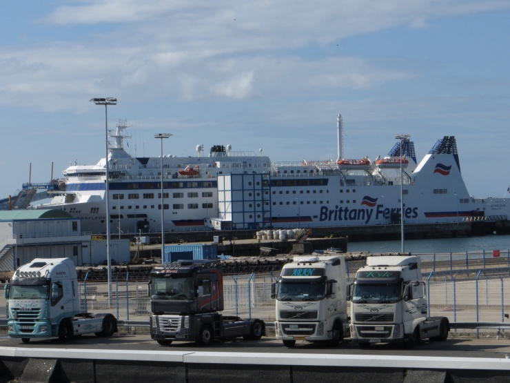 The Barfleur ferry at Cherbourg