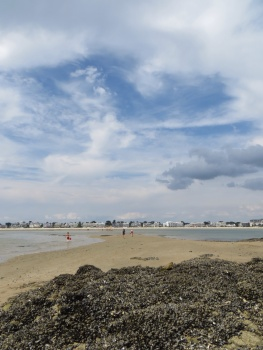 View towards La Baule from the mussel rocks