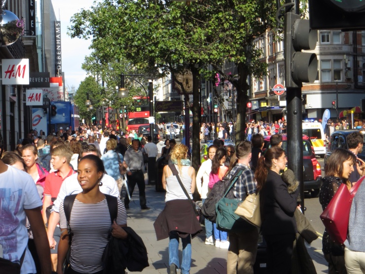 Very crowded Oxford Street