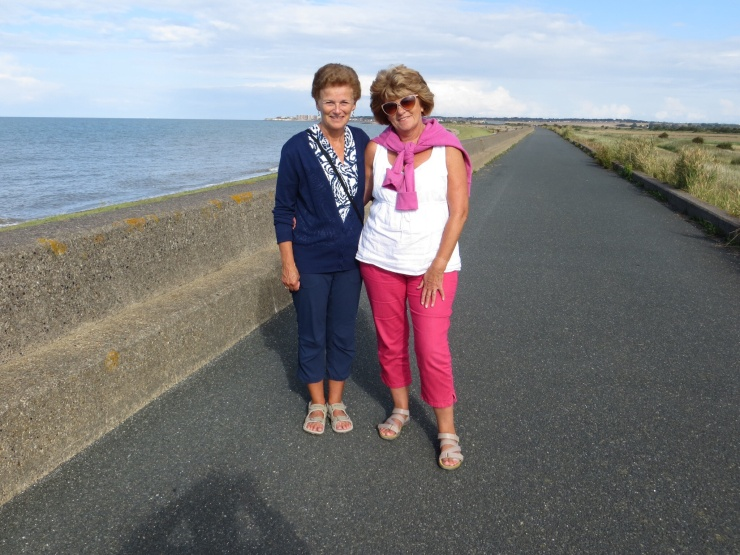On the sea wall in Birchington