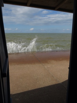 View from Fran's beach hut!
