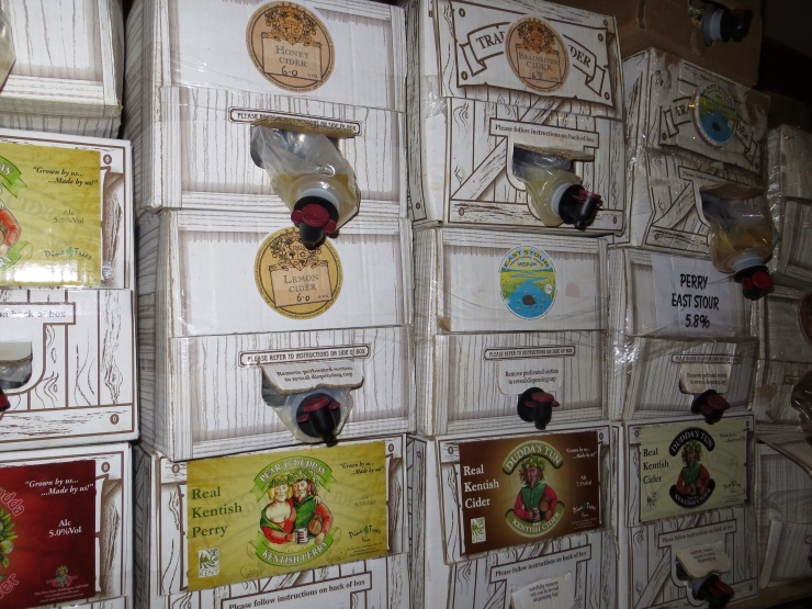 Boxes of real Kentish cider