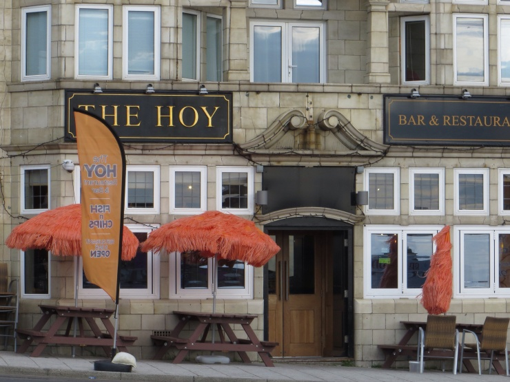 Very attractive umbrellas outside this pub in Margate!