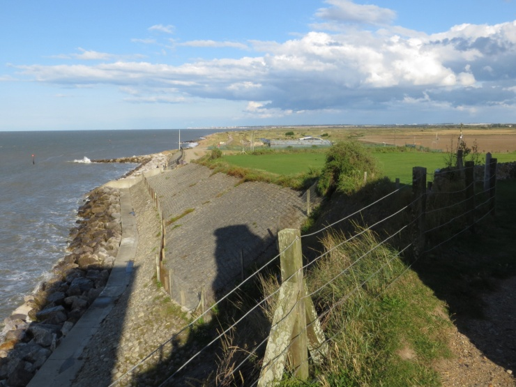 Looking towards Birchington from Reculver
