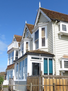 Kentish clapboard houses at Whitstable