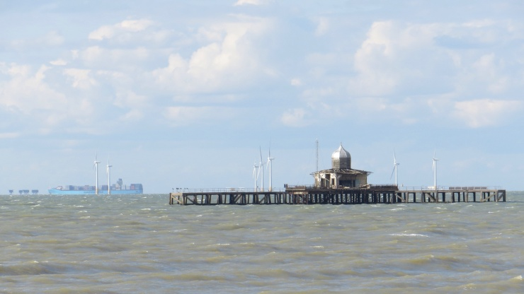 The former end of Herne Bay pier out at sea