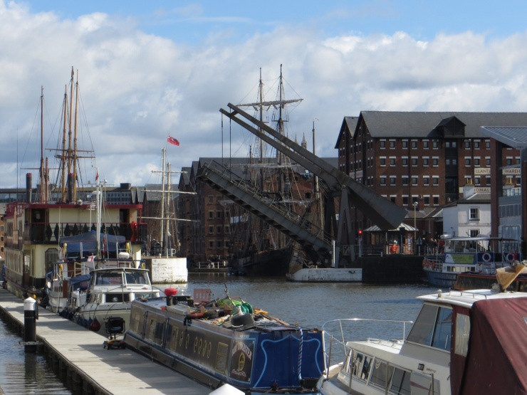 Bridge going up in Gloucester Quays