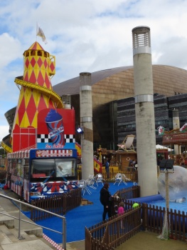 Fun fair outside the Millenium Theatre