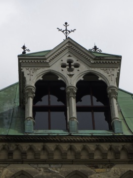 Window in a Parliament building