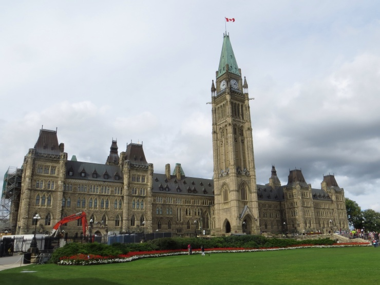 Parliament with the Peace Tower in the middle