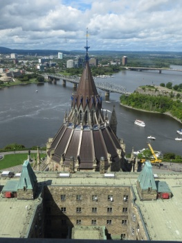View towards Gatineau from the Peace Tower