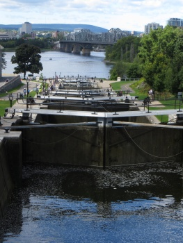 Locks before the Ottawa River