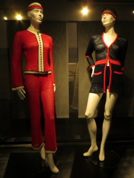Fetching knitted suits from the 1970's