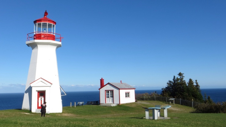 Gaspe lighthouse at Land's End