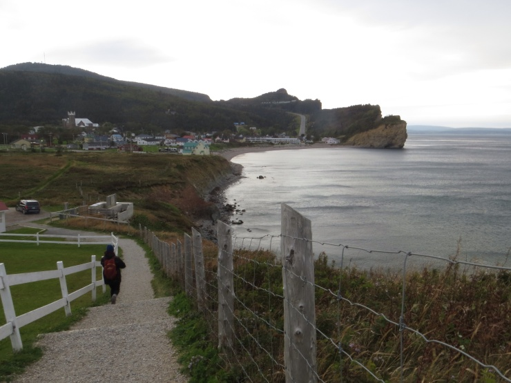 View from the lookout in Perce