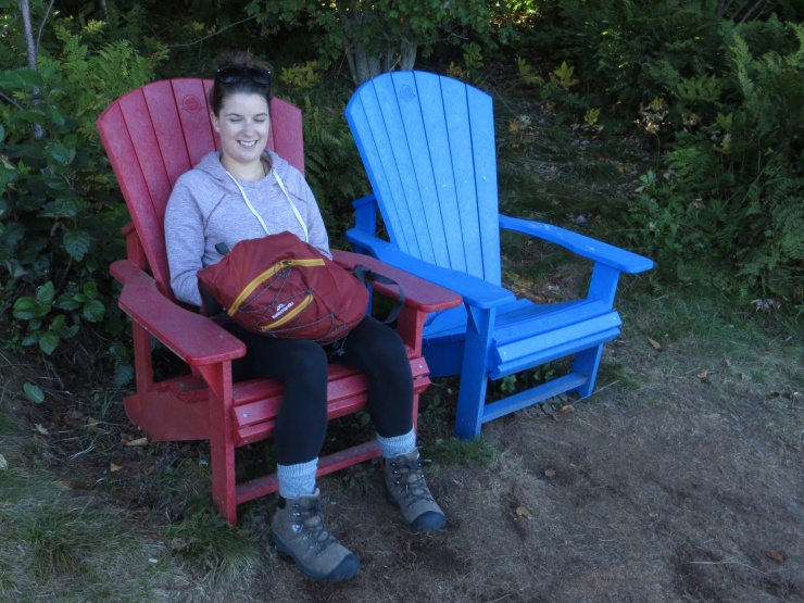 Historic moment - one red and one blue chair!
