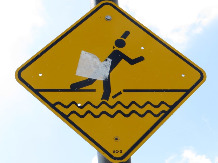 No walking on the water!