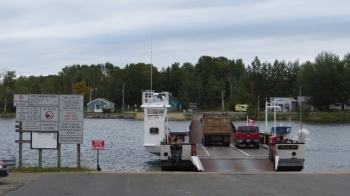 Car ferry at Little Narrows