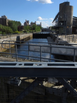 Lock on Lachine Canal