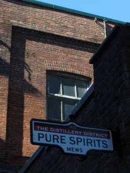 Street sign in The Distillery