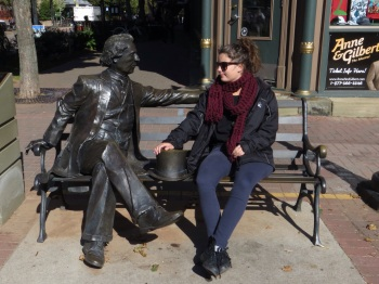 Robyn with one of the Confederation founders